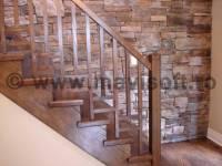 Poza Balustrada interioara din lemn geometrica 1