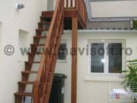 Poza Scara exterioara din lemn M4 1